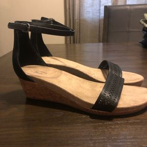BASS Ankle Strap Wedges